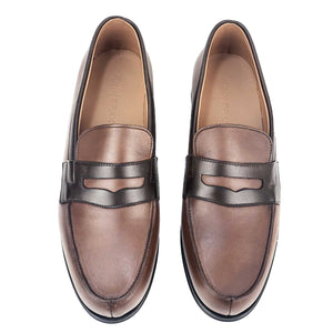 CH716-015 - Chaussure cuir Taba Marron - deluxe-maroc