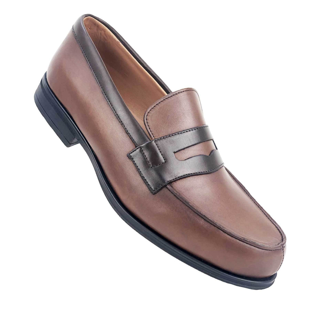 CH716-015 - Chaussure Cuir TABAC MARRON  | Chaussure Homme Classe Maroc