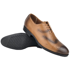 CH0067-015 - Chaussure cuir taba - deluxe-maroc