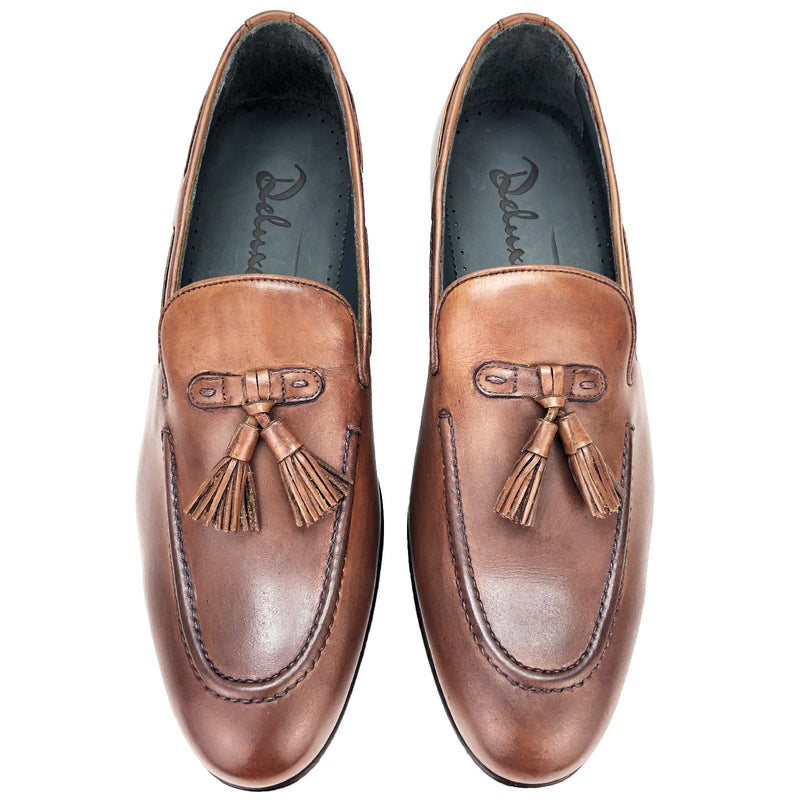 CH1566-019  - Chaussure Cuir Taba - deluxe-maroc