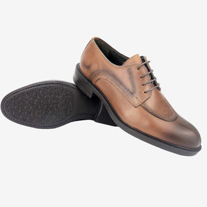 CH1301-015 - Chaussure cuir Taba - deluxe-maroc