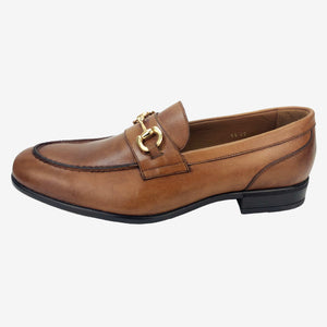 CH015-019  - Chaussure Cuir taba - deluxe-maroc