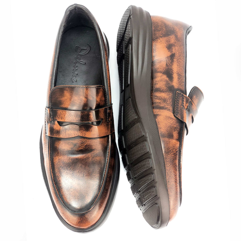 CH3892-015 - Chaussure cuir Marron chatain - deluxe-maroc