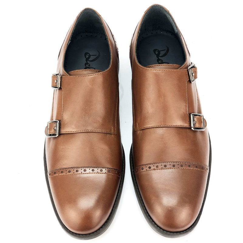 CH411-019  - Chaussure Cuir TABAC - deluxe-maroc