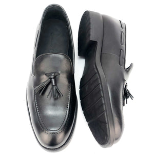 CH070-019 Chaussure Cuir NOIR - deluxe-maroc