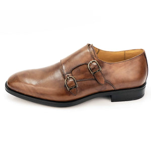 CH008-022 Chaussure Cuir Tabac - deluxe-maroc
