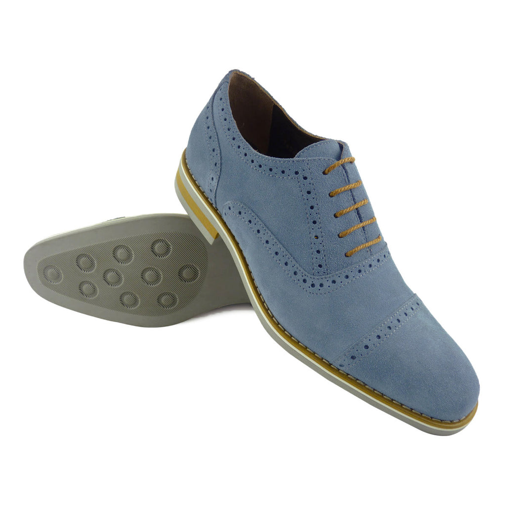 IVAN - Chaussure Cuir Bleu Clair | Chaussure Homme Classe Maroc deluxe