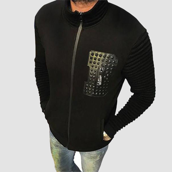 GUSTAVE TRICOT SWEAT NOIR | TRICOT SWEAT HOMME MAROC