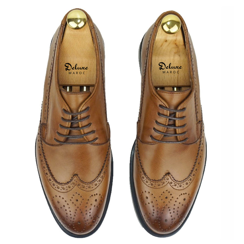 SOLAL- Chaussure Cuir Tabac| Chaussure Homme Classe Maroc