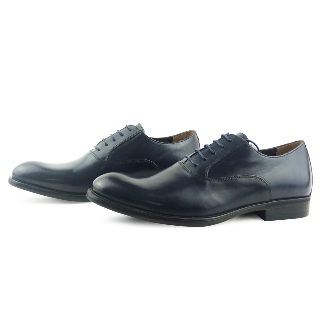 QANTIN - Chaussure Cuir Bleu Nuit | Chaussure Homme Classe Maroc deluxe