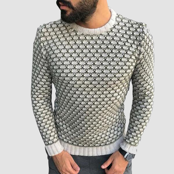 MIGUEL TRICOT BLANC | TRICOT HOMME MAROC