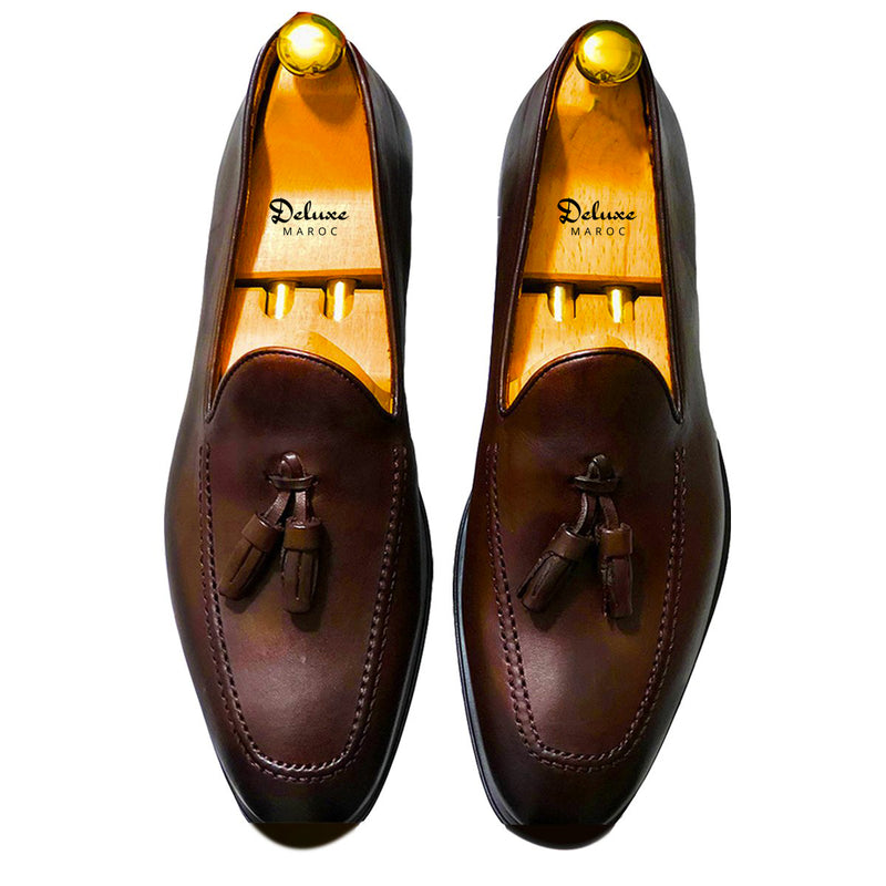 HERVE - Chaussure Cuir marron | Chaussure Homme Classe Maroc