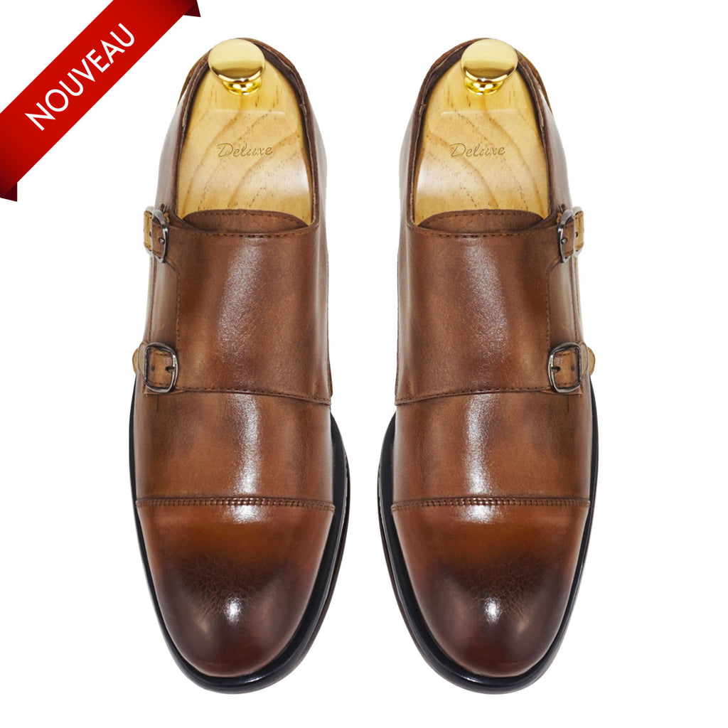DANIEL - Chaussure Cuir Tabac | Chaussure Homme Classe Maroc deluxe