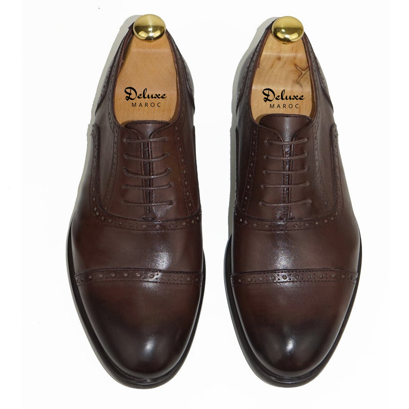 CESAR - Chaussure Cuir MARRON | Chaussure Homme Classe Maroc