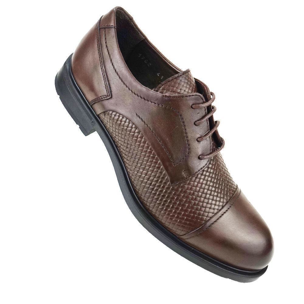 LUNA - Chaussure Cuir Marron | Chaussure Homme Classe Maroc deluxe