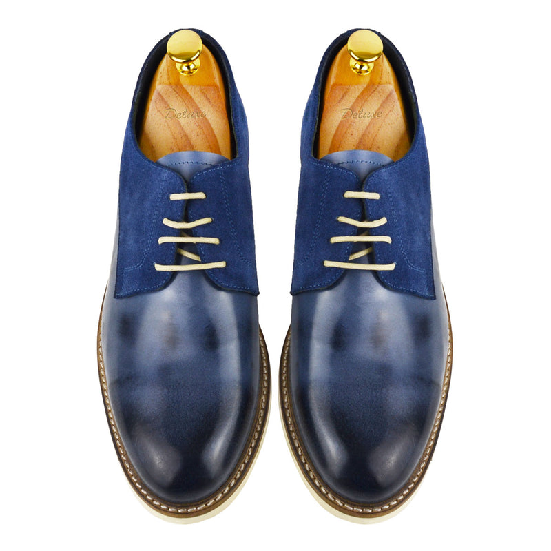 MUNDO - Chaussure Cuir Bleu   Chaussure Homme Classe Maroc deluxe af988653af1a
