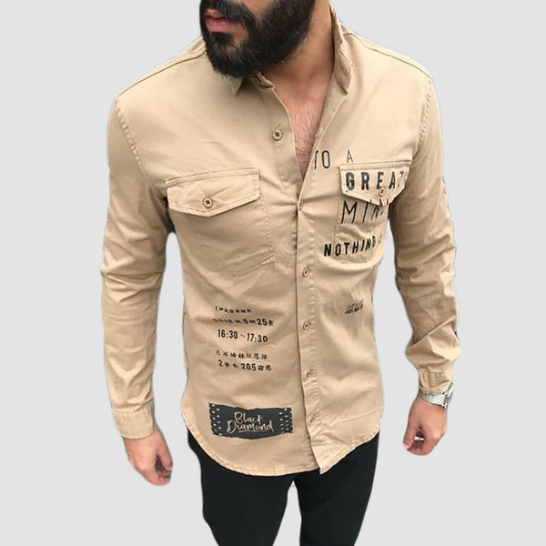 BOLLIET - Chemise Beige   | Chemise Homme Turque