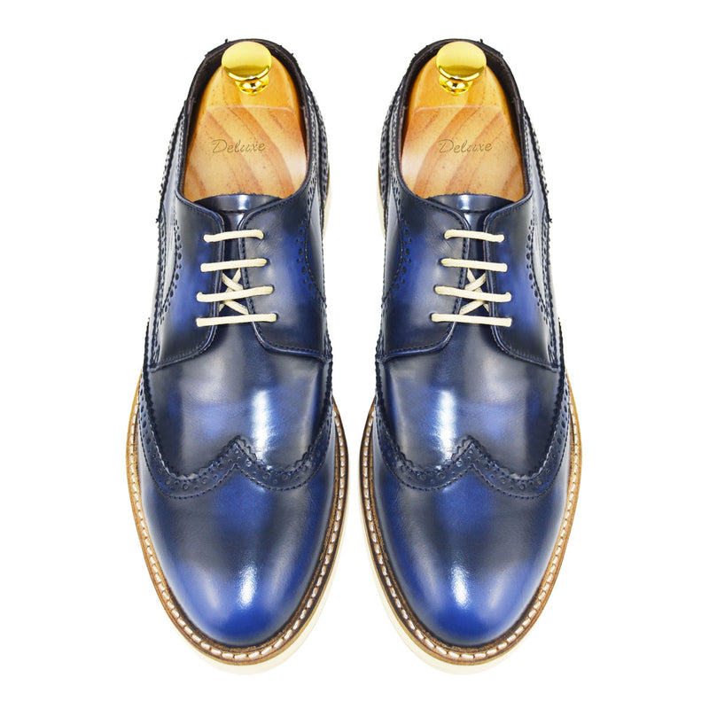 STAR - Chaussure Cuir Bleu   Chaussure Homme Classe Maroc deluxe 67bef662f599