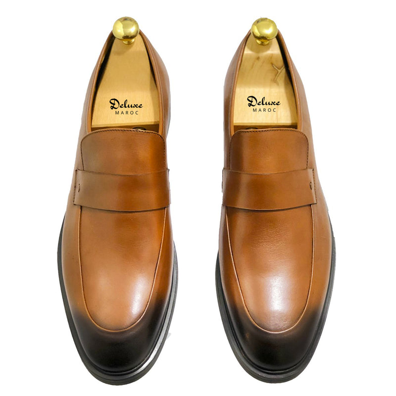ROBERT - Chaussure Cuir Tabac | Chaussure Homme Classe Maroc