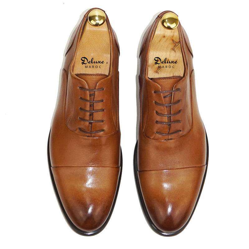 WILLIAM Chaussure Cuir Tabac