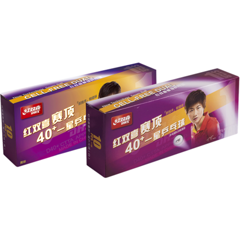 DHS Cell Free Dual 40+ 1 Star Ball 10 Pack - Table Tennis Hub
