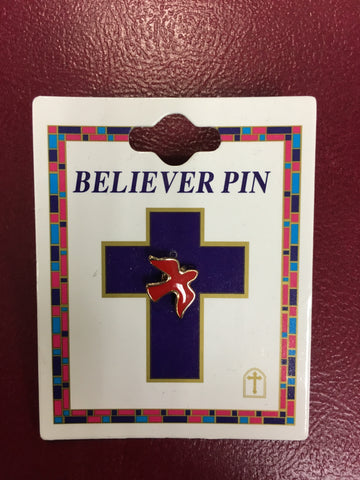 Red Dove Believer Pin