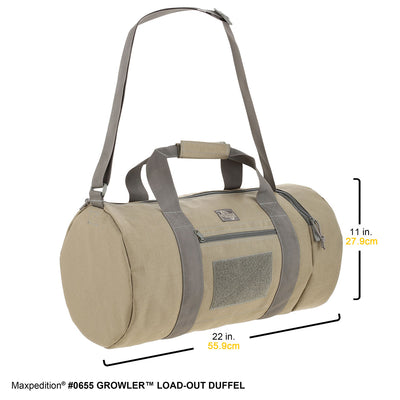 Maxpedition Growler Large Load Out Bag 0655B - Black - Naa Gear