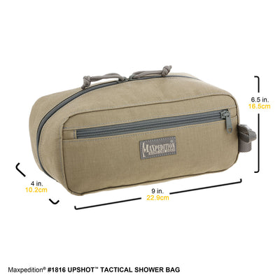 Maxpedition Upshot Tactical Shower Bag - Black 1816B - Naa Gear