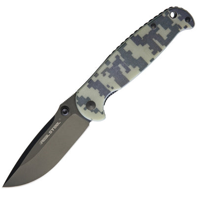 Real Steel H6 Blue Sheep Folding Knife Camo 7768 - Naa Gear