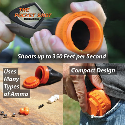 The Pocket Shot USA Slingshot - Pro Kit w/ Ammo - Naa Gear