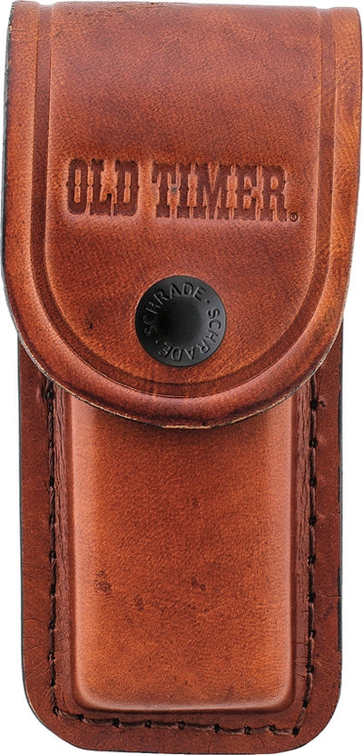 Schrade Old Timer Golden Bear Pocket Knife 6OTW w/ Leather Pouch - Naa Gear
