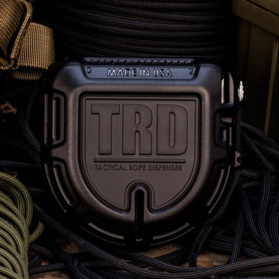 Atwood Rope TRD Tactical Rope Dispenser Black w/ 550 Paracord - Naa Gear
