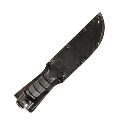 Ka-Bar Short Black Straight 1095 Cro-Van Tanto Knife 1254 - Naa Gear