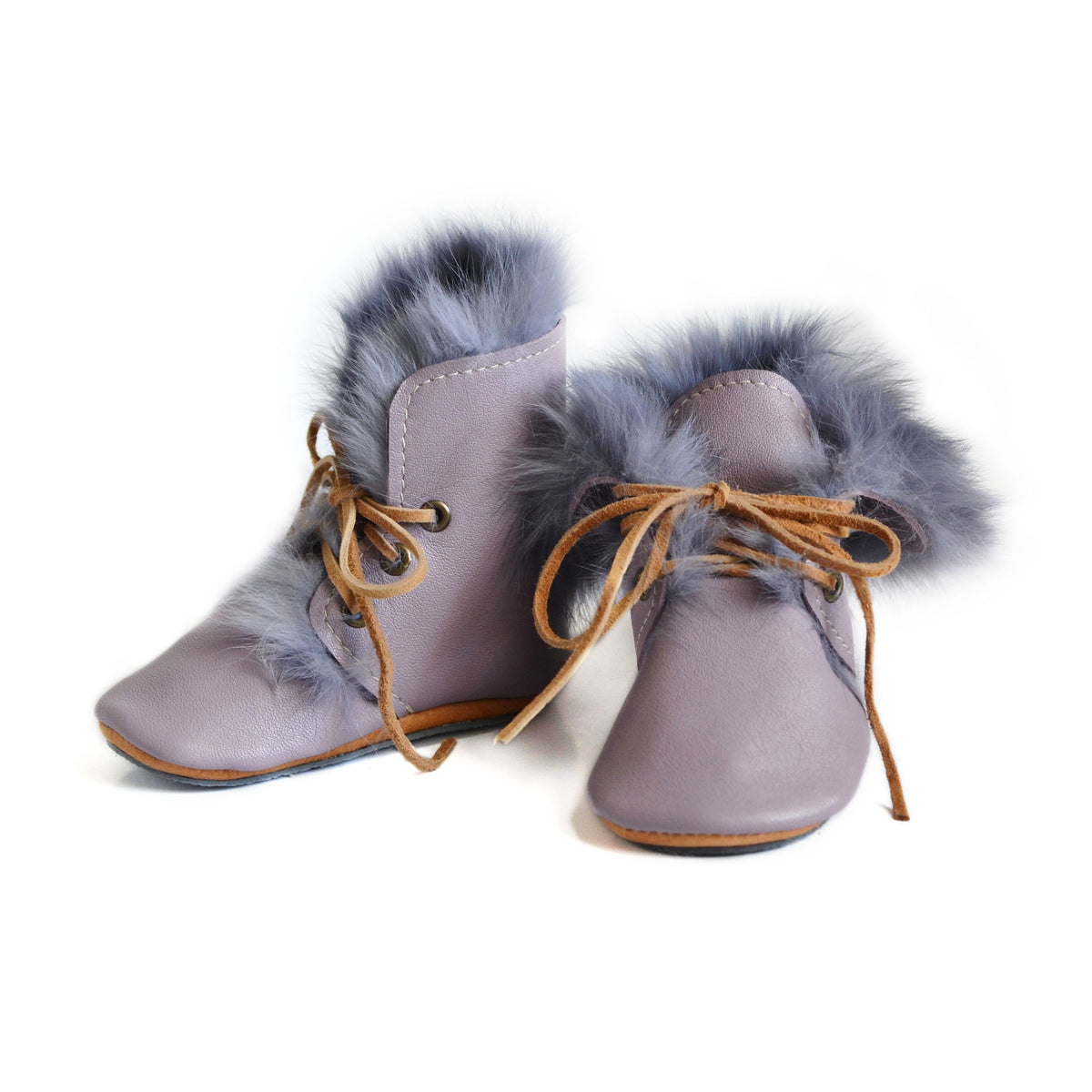 RTS- Lavender Fur Boot Size 4