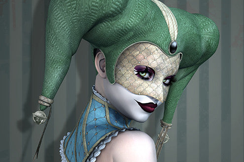 This jester is looking for a new playmate.  Will you escape her games in time?