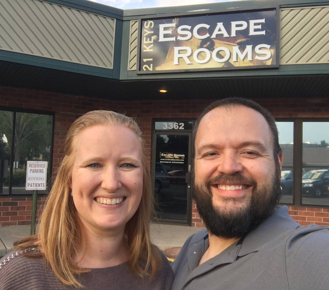 Escape rooms owners Lori and Josh Jones from Colorado Springs, CO.