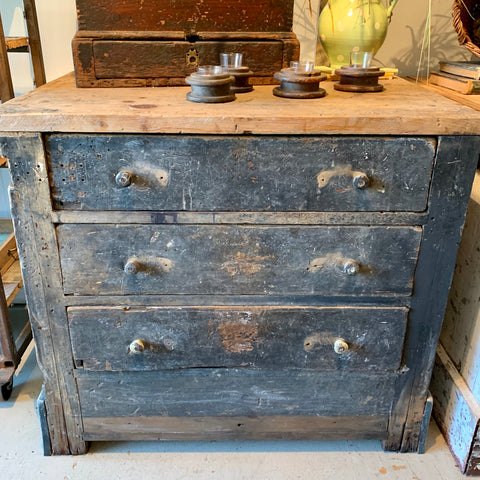 Vintage Industrial 3-Drawer Chest