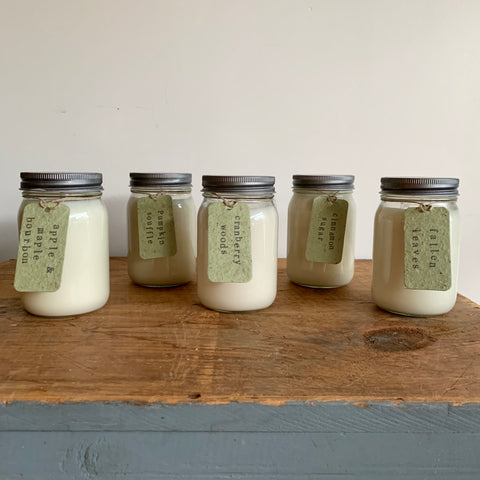 Canning Jar Soy Candles - Various