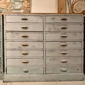 Vintage Gray Multidrawer Cabinet