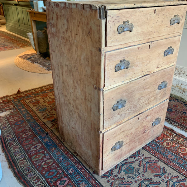 Antique 4-Drawer Pine Chest