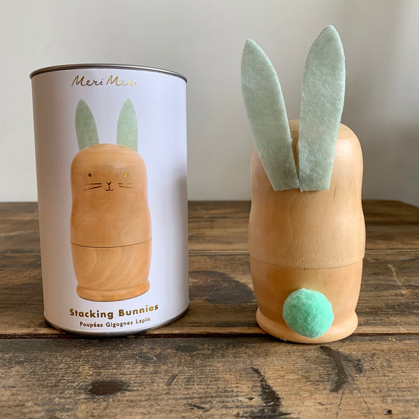 Wooden Stacking Bunnies