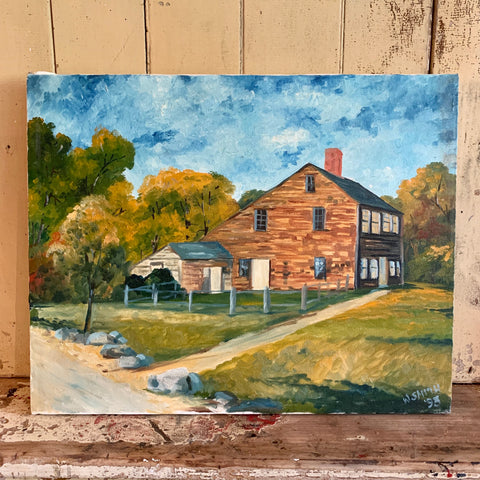 Saltbox Oil on Canvas Painting
