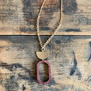 Brass + Wood Necklace