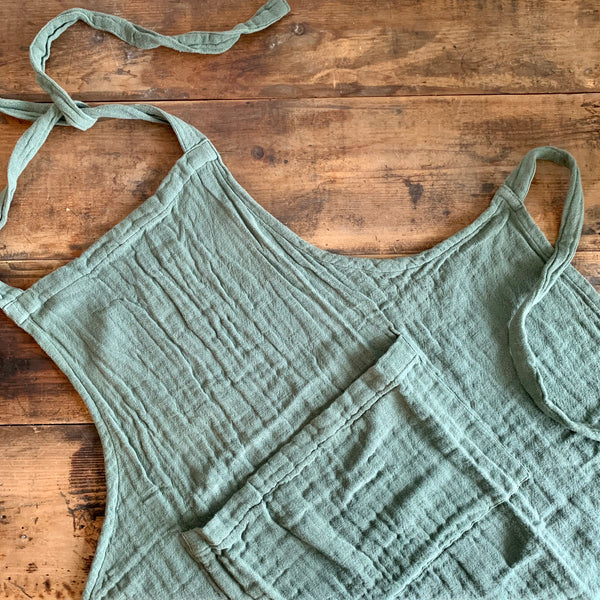 Green Cotton Apron