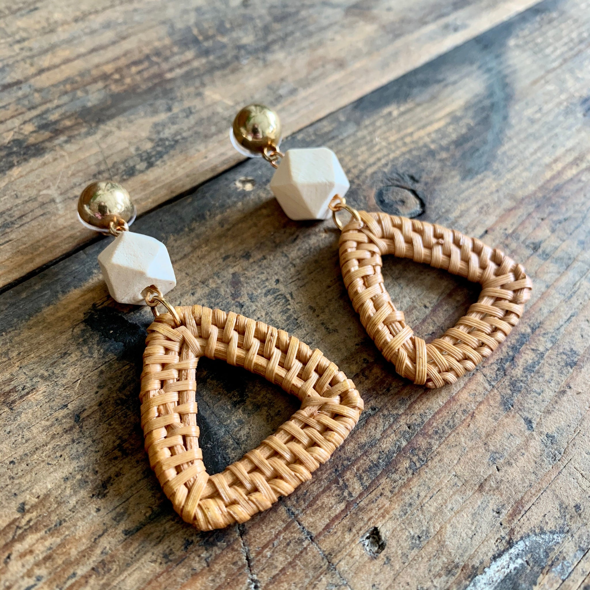 Bali Triangle Earrings