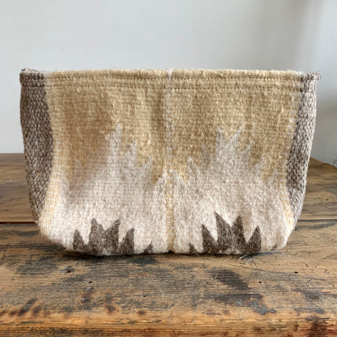 Hand Dyed, Handwoven Wool Clutch - Sierra