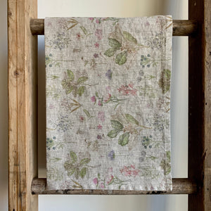 Washed Linen Tea Towel - Botany