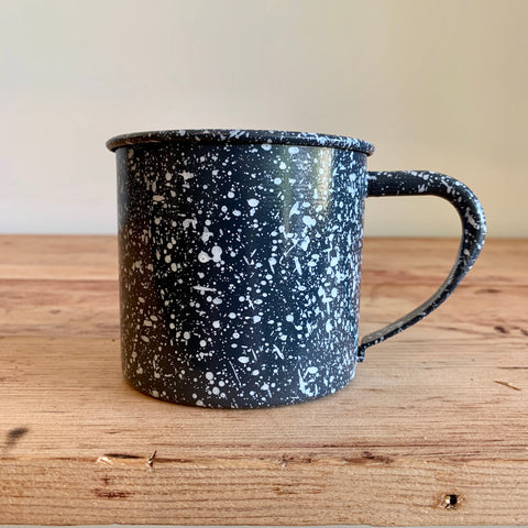 Gray Enamel Splatterware Mug