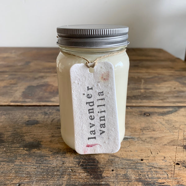 Mason Jar Soy Candles - Various