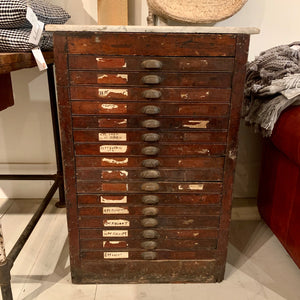 Antique Print Cabinet